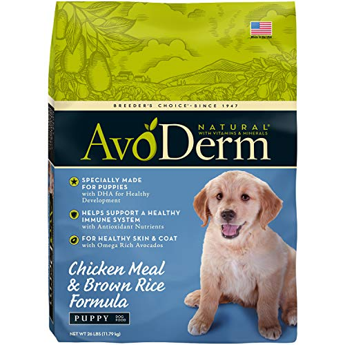 AvoDerm Natural Puppy Dry & Wet Dog Food, DHA For Brain & Eye Development, Chicken & Brown Rice Formula, 26 lb