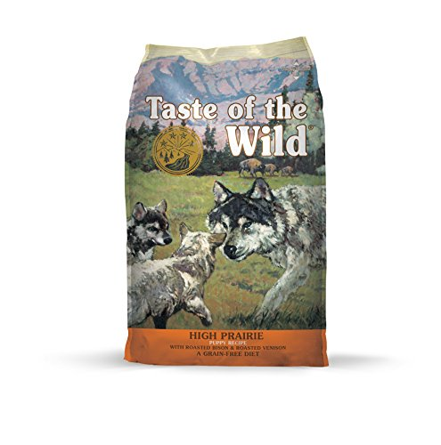 Taste of the Wild Grain Free High Protein Real Meat Recipe High Prairie Puppy Premium Dry Dog Food