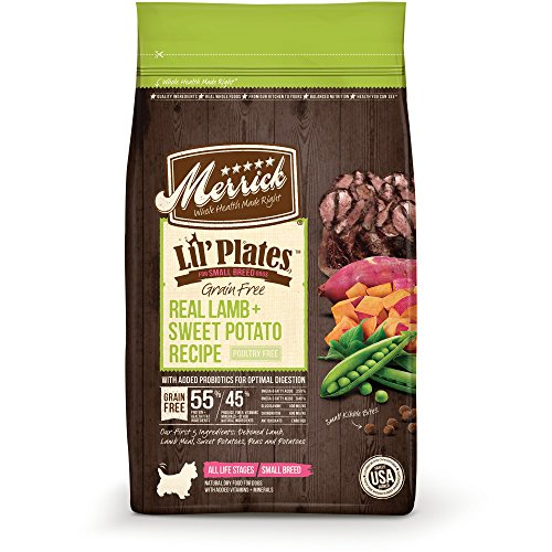 Merrick Lil' Plates Grain Free Real Lamb + Sweet Potato Small Breed Dry Dog Food, 12 Lbs.