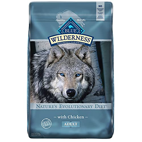 Blue Buffalo Wilderness High Protein Grain Free Natural Adult Dry Dog Food, Chicken 24-Lb